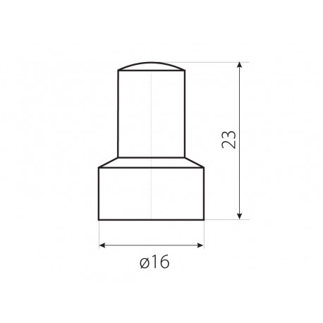 Krytka OK 13 dlouhá bílá