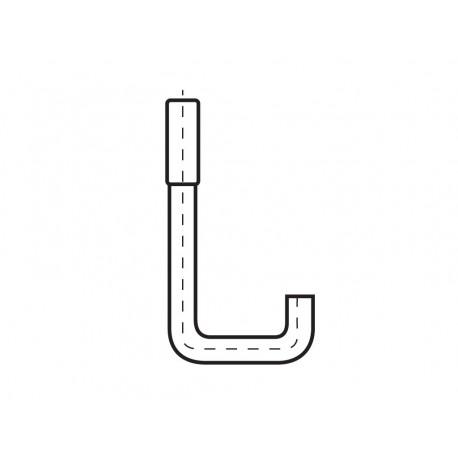 Hákový šroub U 55/165 FeZn